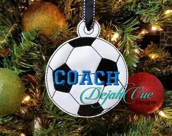 ITH Soccer Ball Christmas Ornament