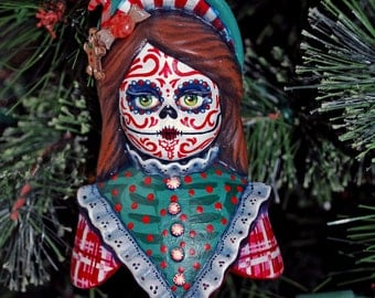 Day of the Dead Christmas Ornament - Gingerbread Baker