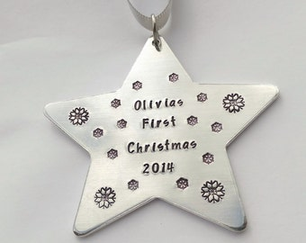 Baby's First Christmas ornament -  baby's first christmas tree decoration - personalised christmas decoration - first christmas bauble