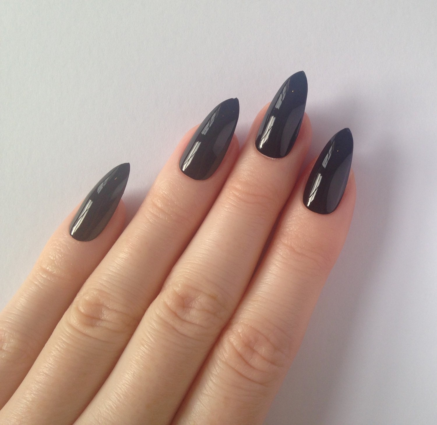 Today Live Sports: Black Stiletto nails, Nail designs, Nail art ...
