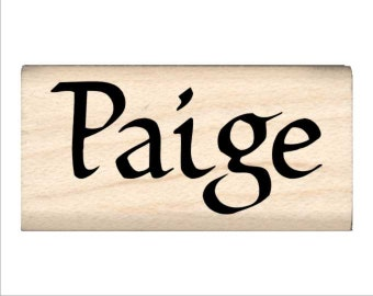 Paige - Name Rubber Stamp for Kids