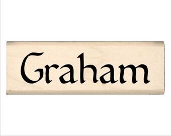 Name Rubber Stamp for Kids  - Graham