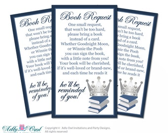 Royal Prince Cupcake Toppers for Baby Shower Printable DIY, favor tags, circles, It's a Royal, Blue - ao66bss0