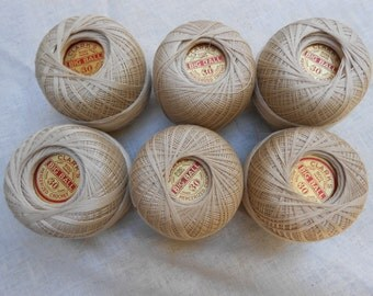 Crochet or Tatting Thread Clarks 6 Balls of 500 Yds. size 30