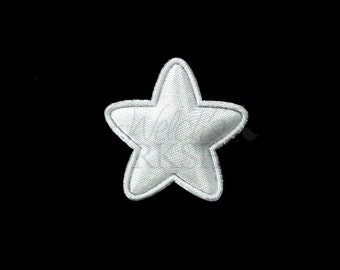 "White Star - Set of 5 Padded Appliques - 1"" Patriotic Embellishments - PA-005"