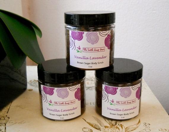 Vanilla Lavender Brown Sugar Scrub, Brown Body Scrub, Fall, Scrub ...