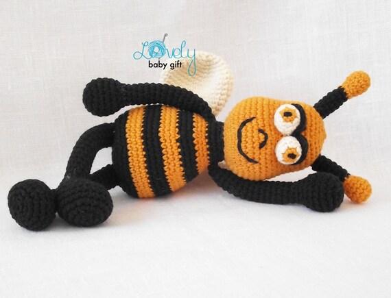 Mickey Amigurumi Bee Bee Tutorial : Crochet Pattern, Amigurumi, Bee, Crochet Tutorial ...