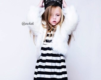 Girls black stripe dress, baby girl clothes, girls black dress, girls dresses, hipster clothing, baby girl outfit, baby girl dress