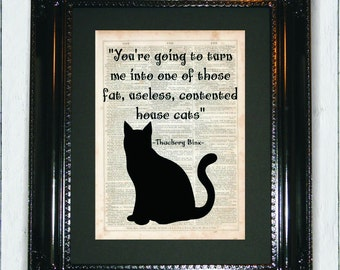 Thackery Binx Hocus Pocus Quote, Dictionary Art Print, Vintage Dictionary, Silhouette, Hocus Pocus, Wall Decor, Halloween Decor, Art Print