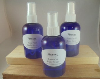 Body Spray Mist - Choose your Scent - Alcohol Free - Lots of Uses