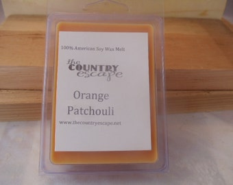 Orange Patchouli Scented 100% Soy Wax Melt - Earthy & Citrusy - Maximum Scented