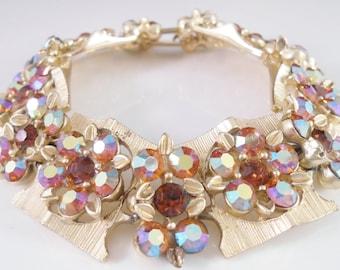 BSK Amber AB Rhinestone Bracelet