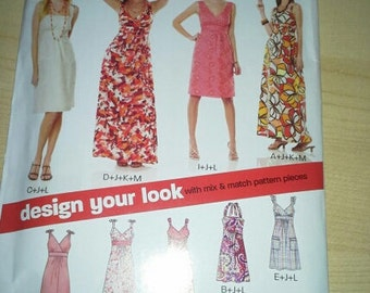 New Look 6774 uncut dress pattern Design your own dress size 10-22