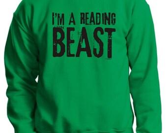 I'm A Reading Beast Crewneck Sweatshirt 18000 -  RV-112