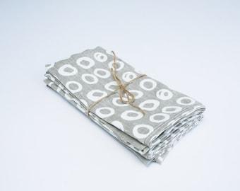Grey Organic Linen Dish Towel // Linen Kitchen Dish Towel // Eco-friendly Towel for Her // Eco-friendly Gift for Her