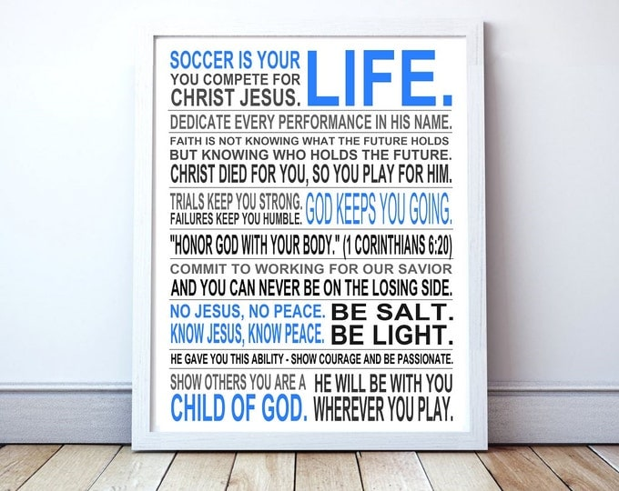 Christian Athlete - Custom Manifesto Poster Print
