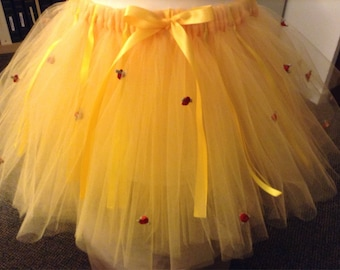 Princess Belle Inspired adorable tutus custom made for adults and Kids