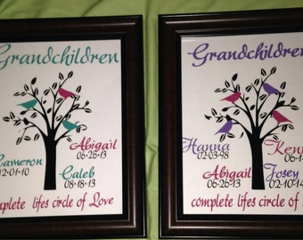 Family Tree Vinyl Decal Art -8.5x11