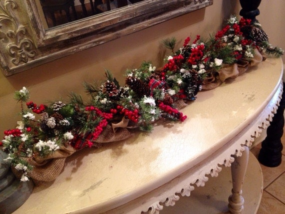 Christmas Centerpiece Etsy : Traditional christmas centerpiece by lafetedecor on etsy