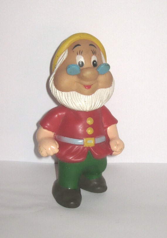 Walt Disney DOC 7 Dwarfs Rubber Squeak Toy Hong Kong