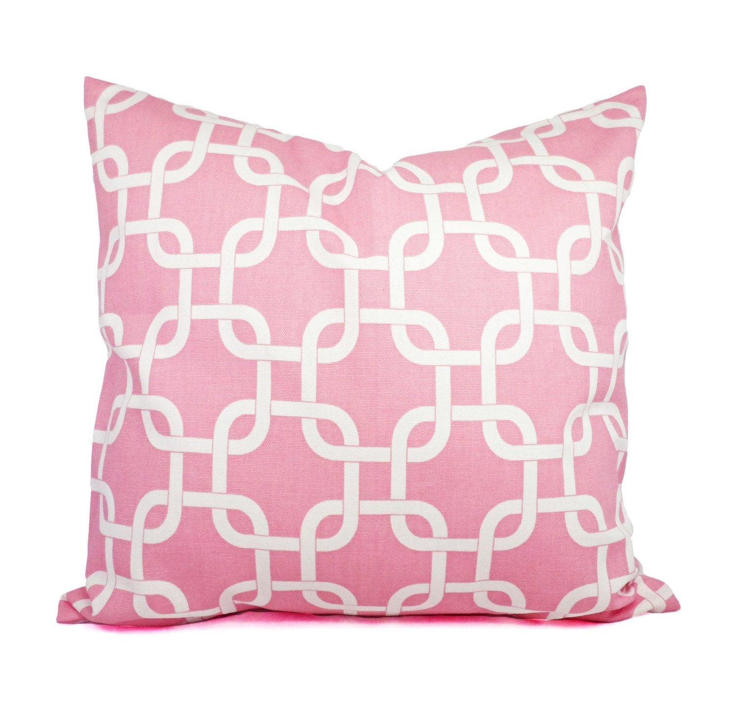 Two Blush Pink Pillows Soft Pink and White Throw Pillows