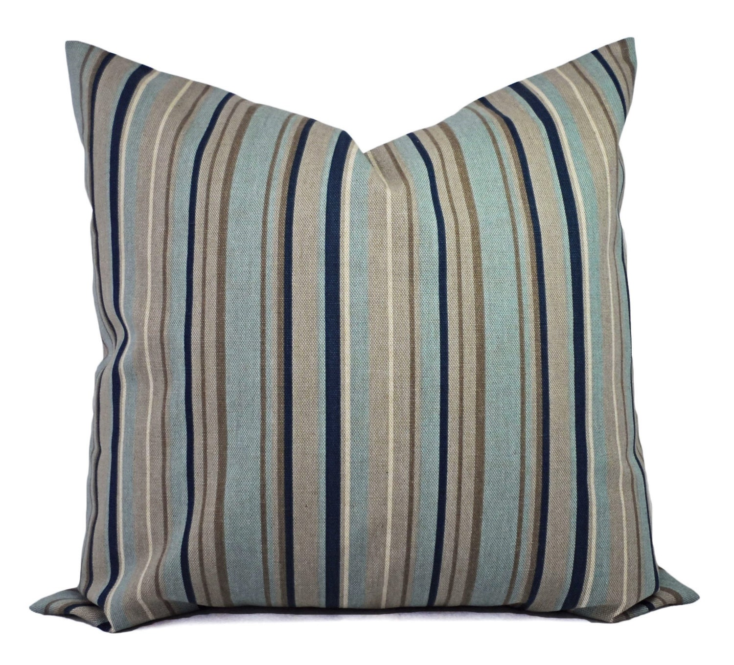Navy Blue Decorative Pillow Covers : Two Blue Decorative Pillow Covers Navy Blue Striped Pillow