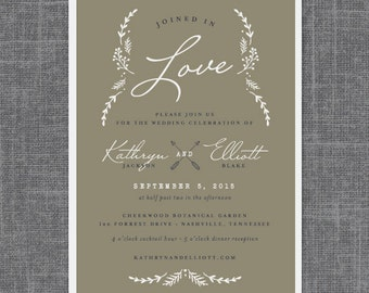 Titania Wedding Invitation Suite | Print-it-Yourself