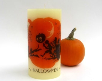 Vintage Halloween Art, Halloween Candles, Halloween Decor, Halloween Silhouette, Halloween Home Decor, Halloween Decoration, Trick or Treat