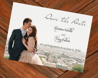 Custom Photo Save The Date Cards, DIY Save Our Date Card, Printable Save The Date personalized for you