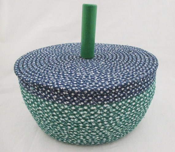 fabric wrapped clothesline coiled basket with by