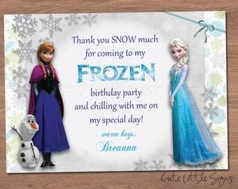 Frozen Thank You Digital Card