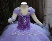 Sofia The First Amulet Bubblegum Beaded Necklace/Purple Bubbegum Beaded Necklace