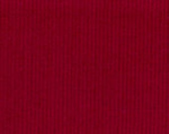 HALF YARD Red Corduroy Fabric Finders Cotton Fabric