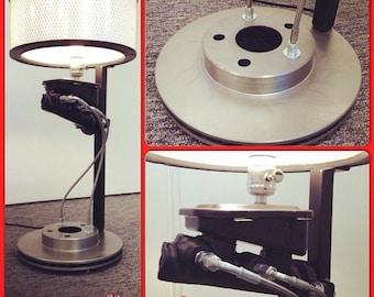 COOLEST LAMP EVER- Car parts - Industrial - Automotive - Man Cave - Racing - Modern - brake art - Mens gift