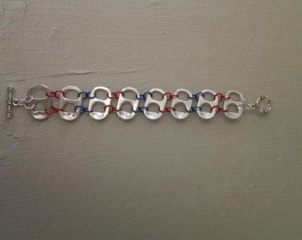 Upcycled can tab bracelet
