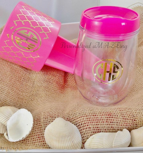 Personalized cup, Beach drink holder, beach spike drink holder, Monogram beach spike,birthday gift,wedding favor,spring break bev2go tumbler