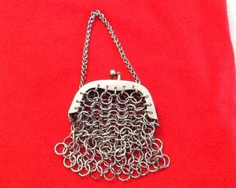 Vintage Silver Mesh Miniature Purse