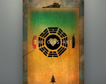 "Lost Inspired ""The Constant"" 11X17 Print Art Poster by Herofied Minimalist Desmond Penny"