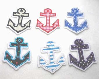 1 embroidery application, anchor ** COLOR CHOICE ** (617)