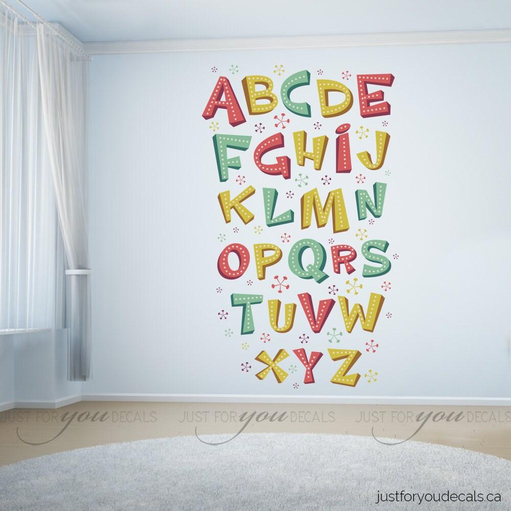 alphabet wall decal playroom wall decal nursery wall decal