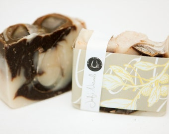 Chocolate Mint Swirl Soap, Cold Process Soap, Hand crafted, Victoria BC, Vancouver Island
