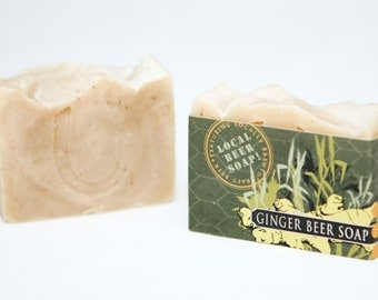 "Cold Process Vegan Beer Soap, ""Ginger Beer"" soap, Handmade, Victoria BC, Vancouver Island"