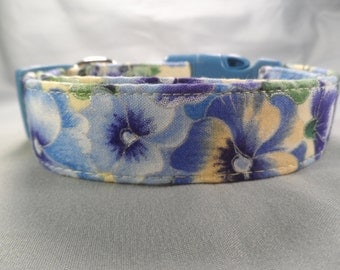 Blue and Yellow Pansy Collar