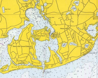 Osterville to Green Pond, East Falmouth, MA - 1971 Nautical Map   - Reprint - 20000 chart 259