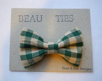 Baby Boy Toddler clip-on bow tie Plaid christmas holiday