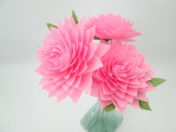 papier dahlia / pink dahlia / papier fleurs / décoration de