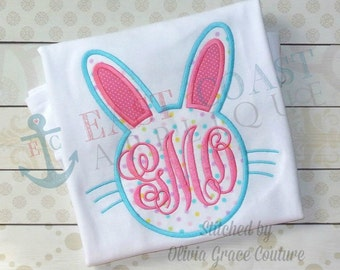 BUNNY HEAD SILHOUETTE machine embroidery design