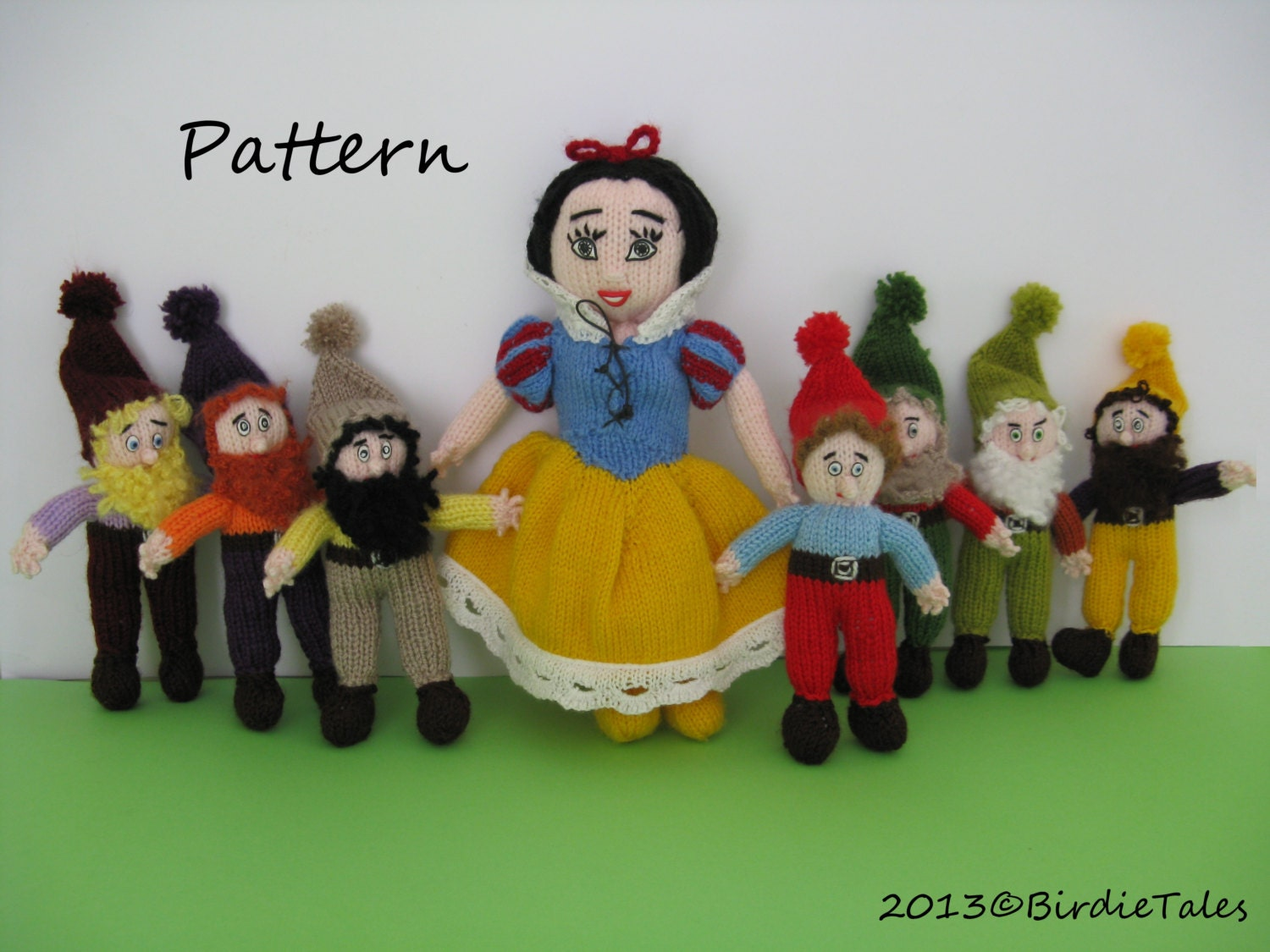 Knitted Dolls Snow White And The Seven Dwarfs Pdf Pattern