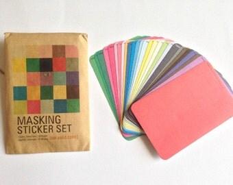 Set di Masking Stickers ver. tinta unita / Ver. Solid Masking Stickers Set