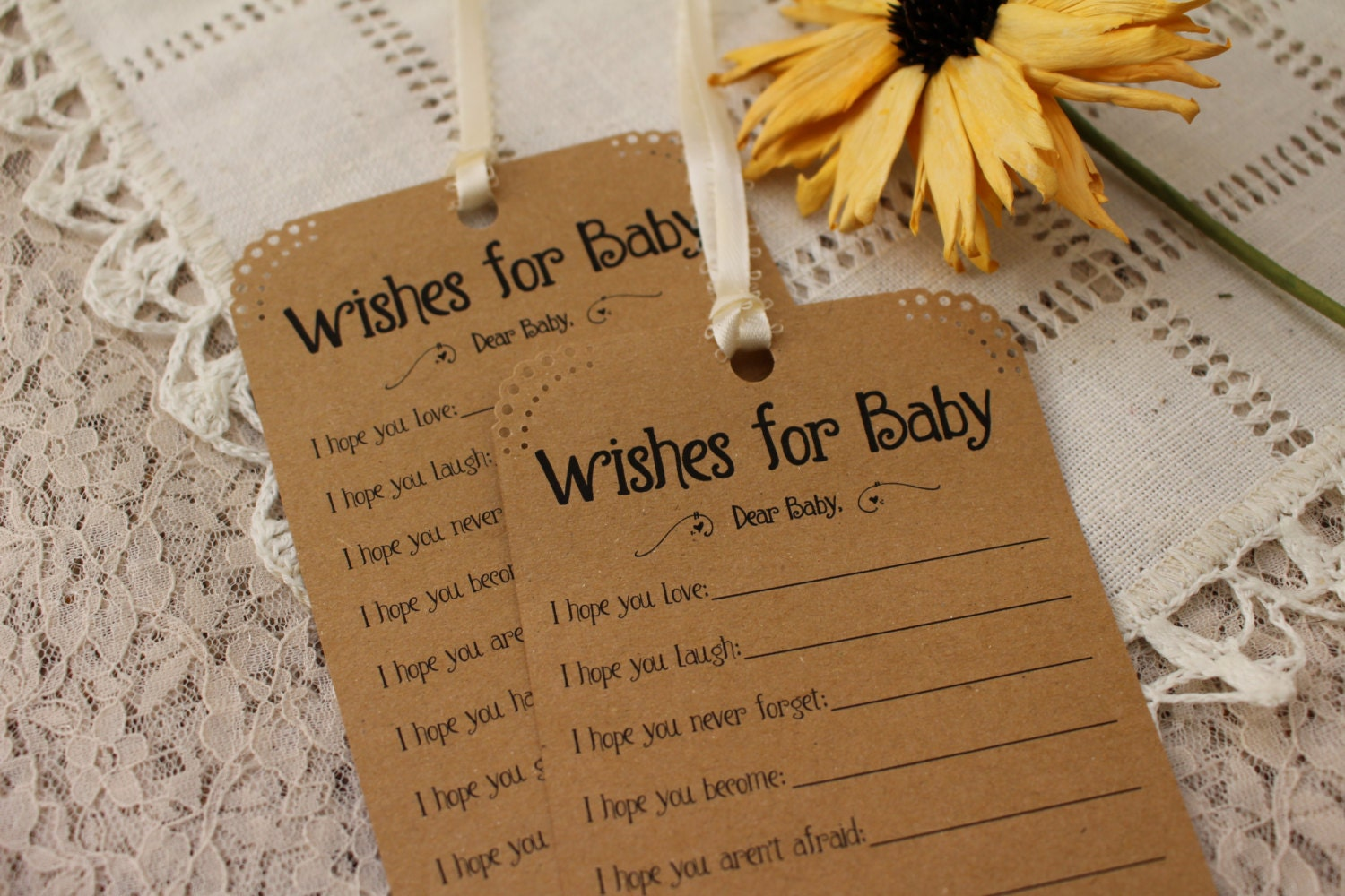 set of 12 baby shower wishing tree tags wishes for baby